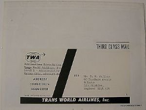 TWA Publication - Booklet of the Airline's Employed Aircraft from 1924 to 1970s